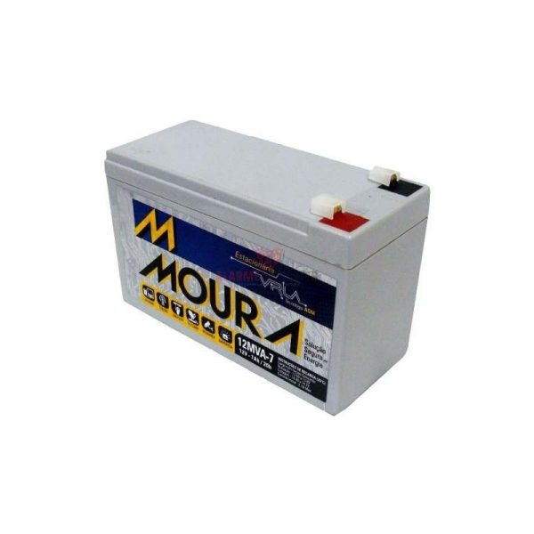 Bateria 12v 7Ah moura selada agm nobreak e alarme