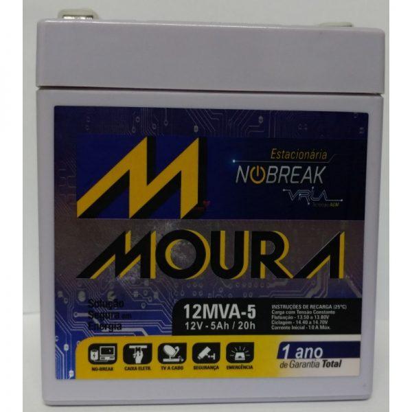 Bateria de alarme Moura 12v 5Ah estacionaria nobreak