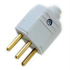 Plug Macho PDL1-3   Alarme Center em Curitiba