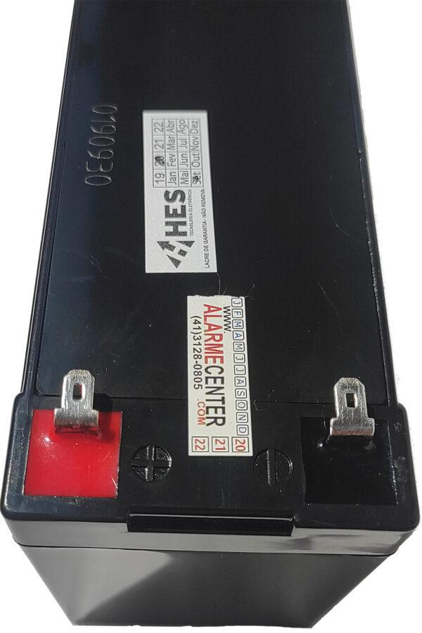 Bateria 12v 7ah de segurança alarme e cerca elétrica marca HES com terminal faston t1