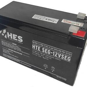 Bateria 12v 7ah de segurança alarme e cerca elétrica marca HES com terminal T1